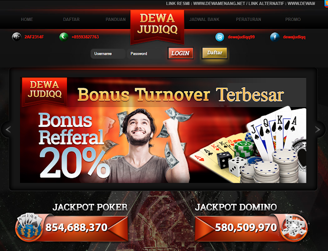 DewajudiQQ Situs Agen BandarQ Judi Poker Domino 99 Online