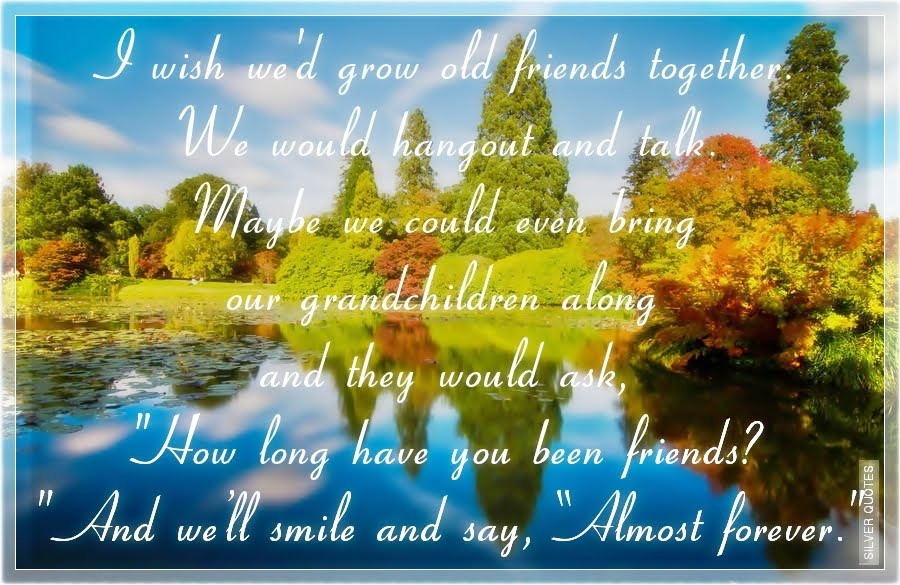 We Will Grow Old Together Quotes: I Wish We'd Grow Old Friends Together