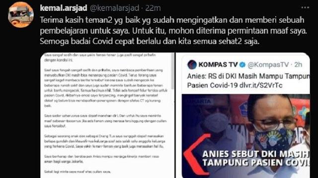 Komisaris Askrindo Kemal Arsjad Minta Maaf Usai Sebut Anies Bangsat dan Mau Ludahi Mukanya