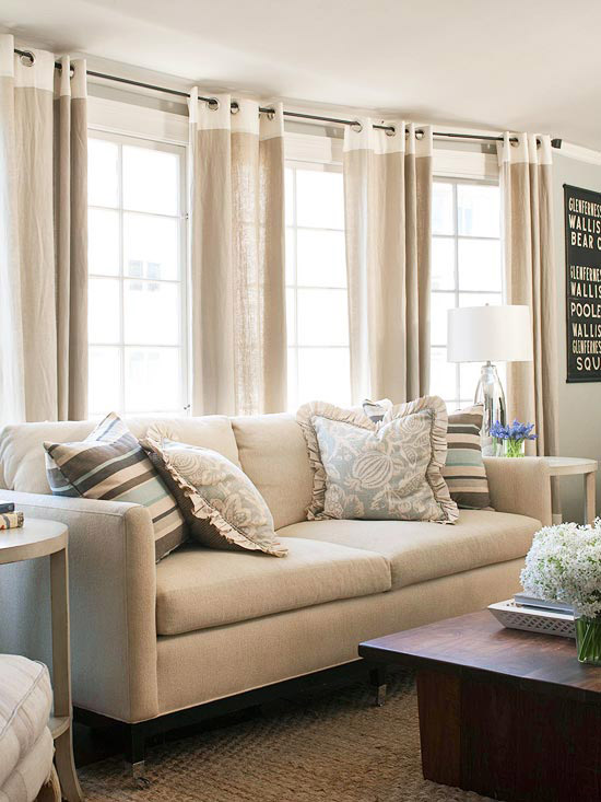8 Best Panel Curtains Images On Pinterest: Inspirations For Bay Window Dressing