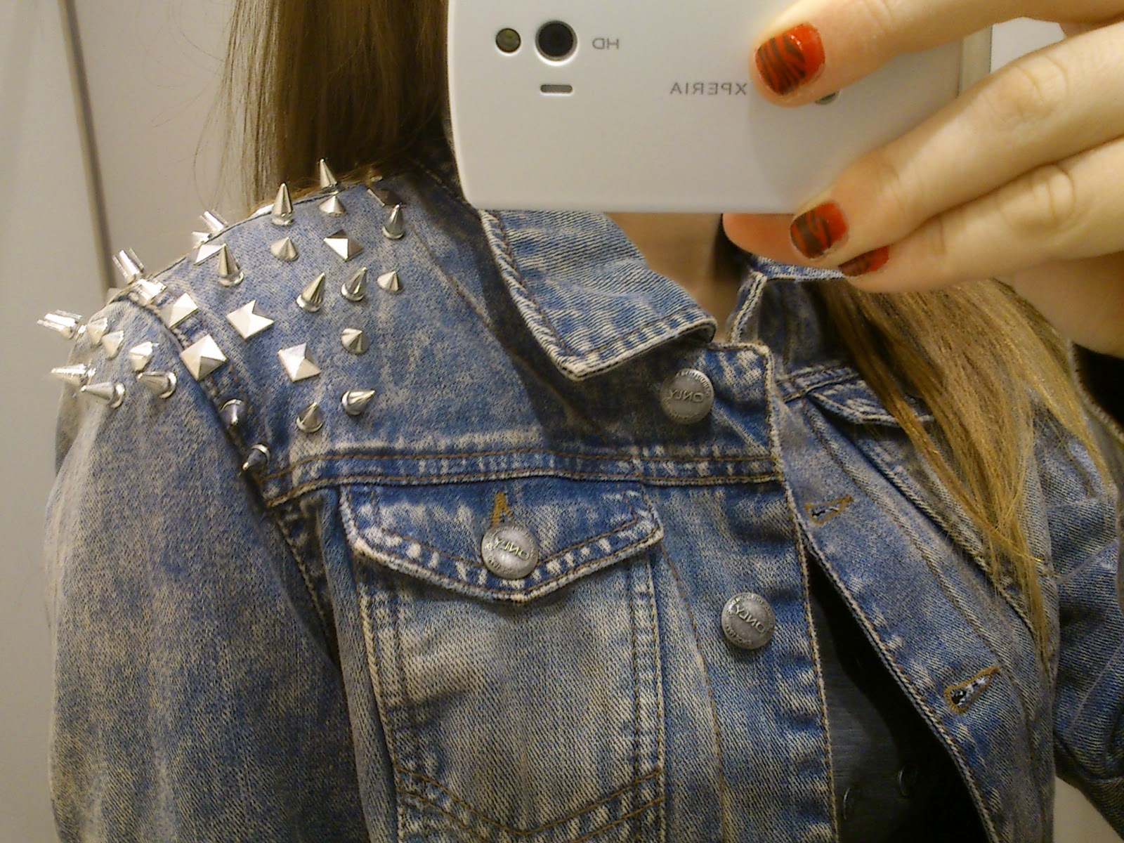 Only jeansjacke mit nieten