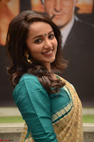 Tejaswi Madivada looks super cute in Saree at V care fund raising event COLORS ~  Exclusive 067.JPG
