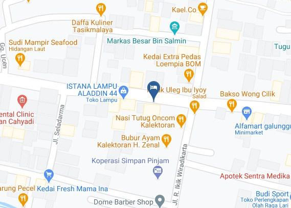 Map Letak Hotel Flamboyan Tasikmalaya