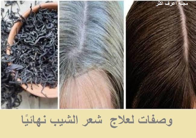 وصفات لعلاج  شعر الشيب نهائيا