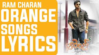 Ram charan, Orange Songs Lyrics in Telugu | Ram charan | All in One, Rooba Rooba song Lyrics in Telugu, Nenu Nuvvantu Song Lyrics in English