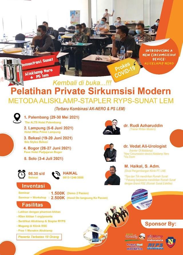 Pelatihan Private Sirkumsisi (Metode Alisklamp- Straper Ryps-Sunat Lem )