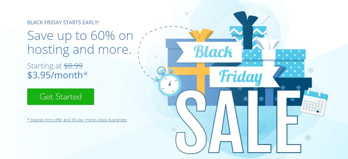 Bluehost Black Friday & Cyber Monday Sale 2020 Hosting @ $ 3.95/month*
