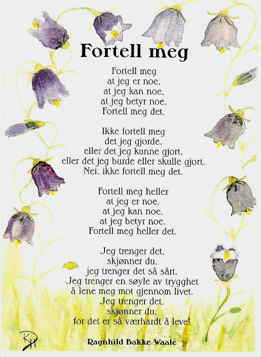 25 års dikt Linn Katrine: Kom over noen dikt 25 års dikt