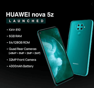 HUAWEI Nova 5z Released with 48MP Camera and Also Kirin 810
