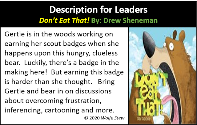 "A ""Don't Eat That!"" summary tailored for the leaders of littles."