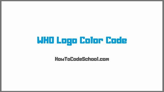 WHO Logo Color Code
