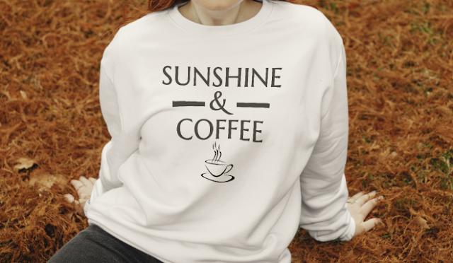 Sunshine and Coffee sthirt Coffee Graphic
