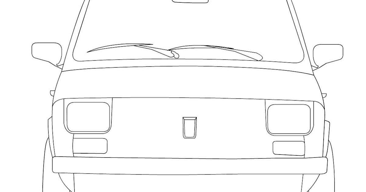 Kolorowanki Dla Dzieci Fiat 126p Maluch Kolorowanki Dla Dzieci