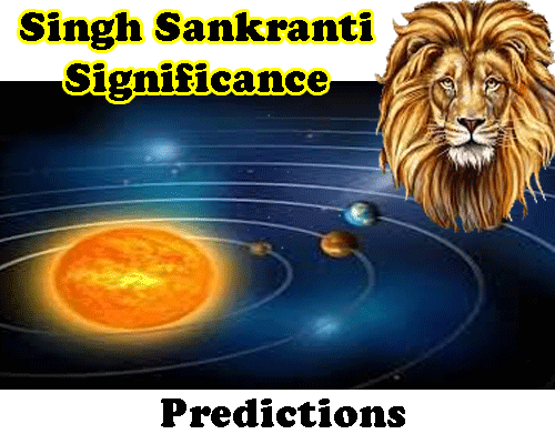 singh sankranti predictions by vedic astrologer