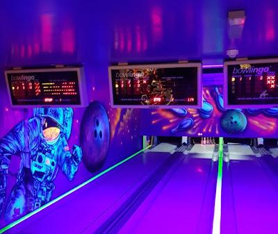 Glow-in-the-dark Bowlingo at Mr B's amusement arcade in Rhyl last year
