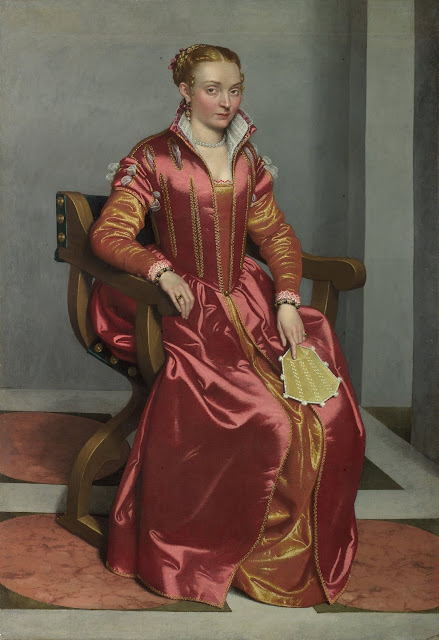 Giovanni Battista Moroni (c. 1520/24 - 1579) Portrait of a Lady, perhaps Contessa Lucia Albani Avogadro (La Dama in Rosso)