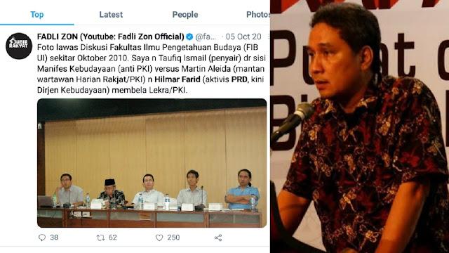 Hilmar Farid Diminta Tanggungjawab Raibnya Nama Pendiri NU, Gus Yasin: Rumornya Dia Aktivis PRD