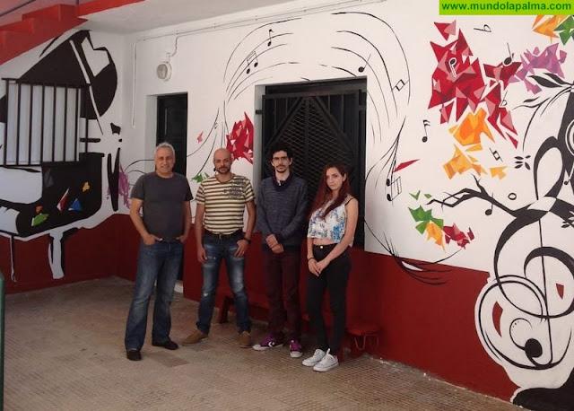 El proyecto Capital del Color incorpora una nueva obra que ilustra la sede de la Academia de Instrumentos CajaCanarias