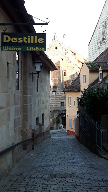 Narrow street in Nuremberg
