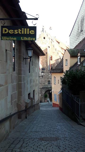 Narrow street in Nuremberg
