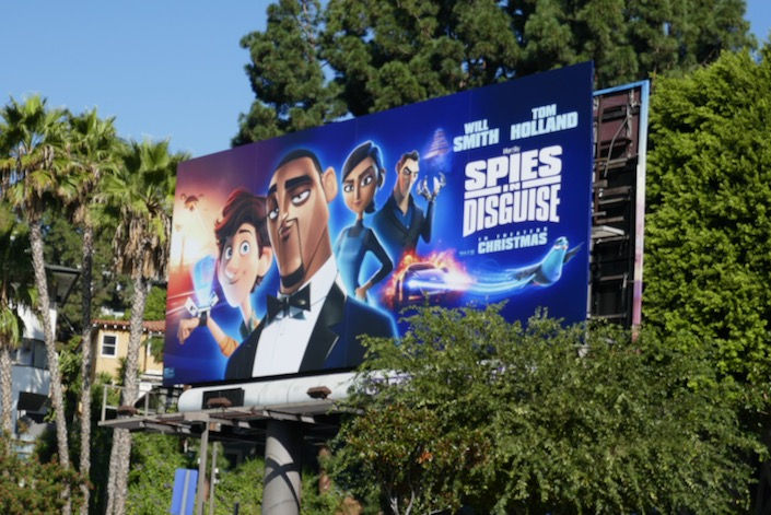 Spies in Disguise film billboard
