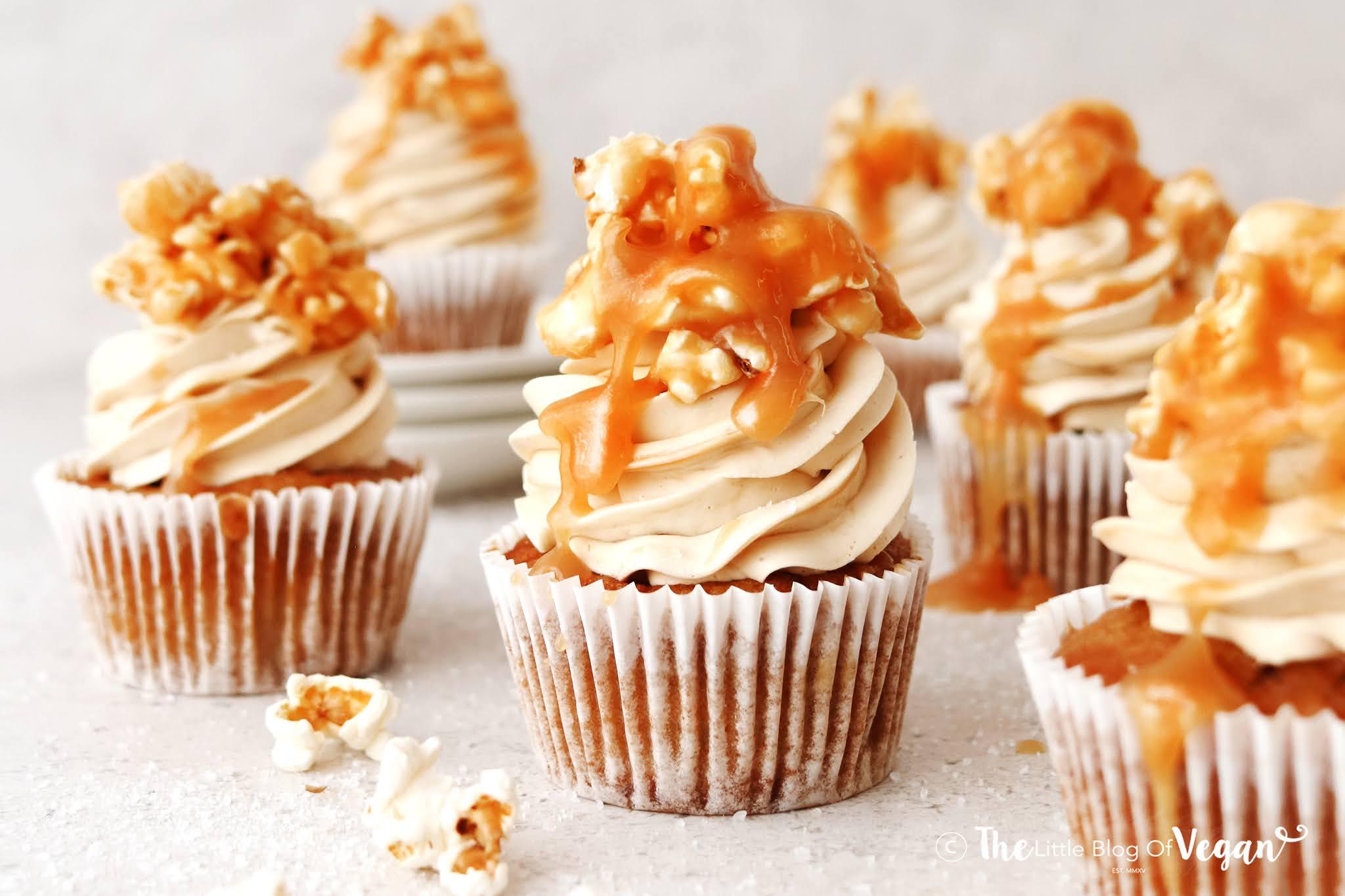 Easy Caramel Popcorn Cupcakes