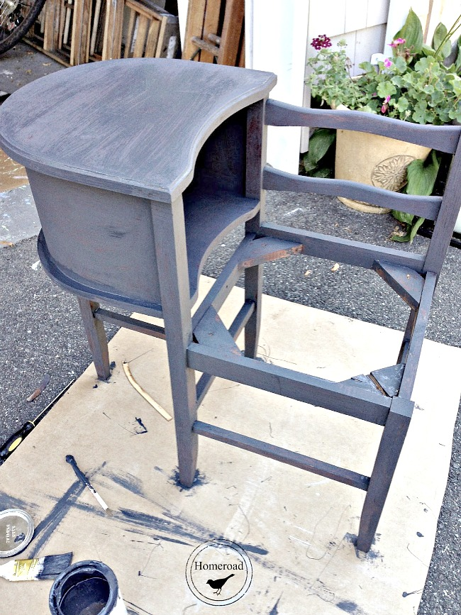 saving a conversation bench from the trash with a cool makeover