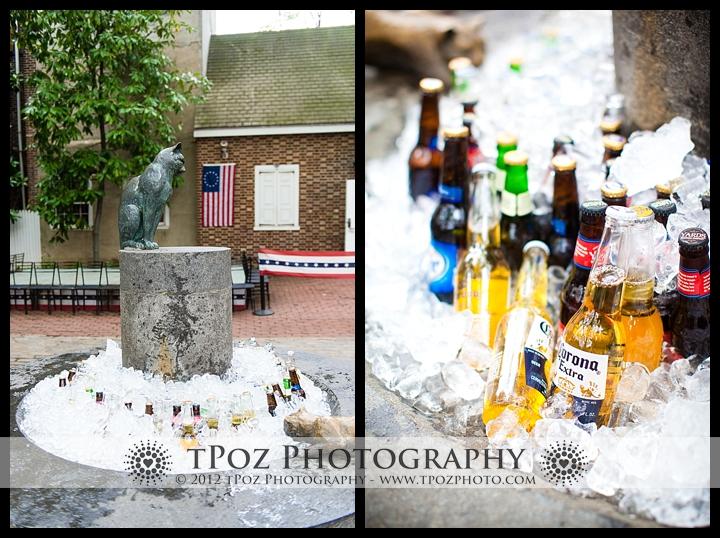 Betsy Ross House Philadelphia Wedding Cocktail Hour
