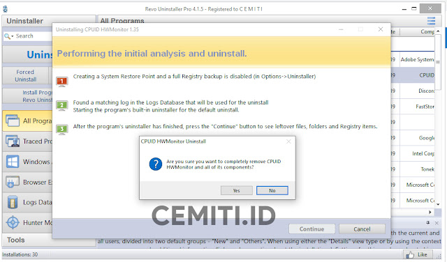 Uninstall Program Menggunakan Revo Uninstaller