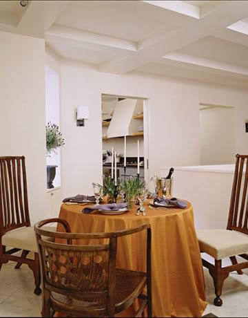 Dining Area in Belgian style Manhattan apartment of Ina Garten