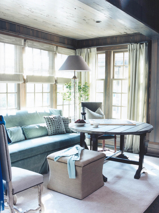 Blue Living Room Walls Rooms With Grey Lessons From The Pros: Susan Ferrier