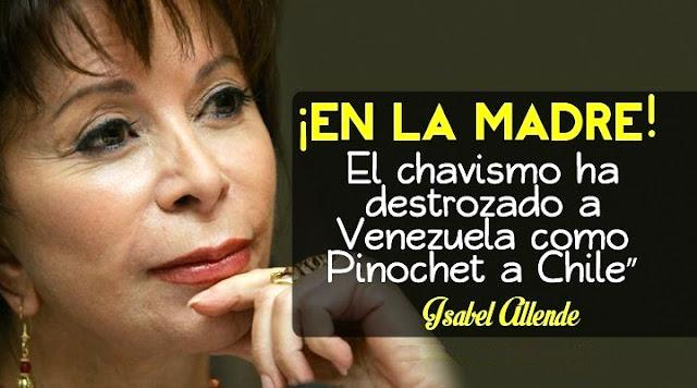 """Isabel Allende, contundente: """"El chavismo destrozó a Venezuela como Pinochet destrozó a Chile"""""""
