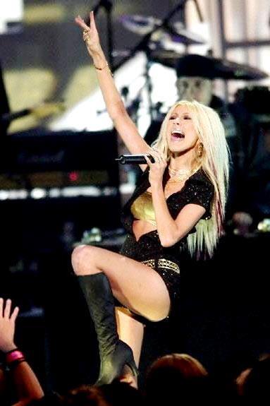 Foto de Christina Aguilera más delgada