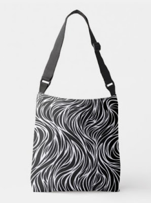 Chic Bags and Bliss - Swirl Stripes Tote Bag