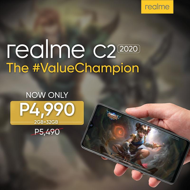 Realme C2 2020 2GB/32GB price drop