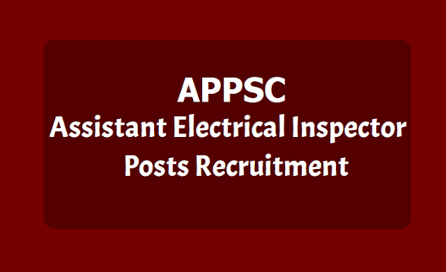 APPSC Assistant Electrical Inspector Posts