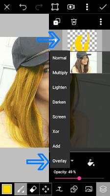Tutorial Cara Edit Foto Merubah Warna Rambut di PicsArt Android Lengkap Terbaru