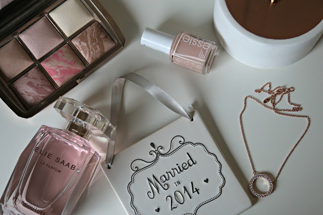 Date night favourites featuring essie nail polish, hourglass, pandora and elie saab image