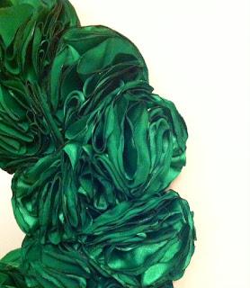 yeşil güllü ayna el yapımı handmade