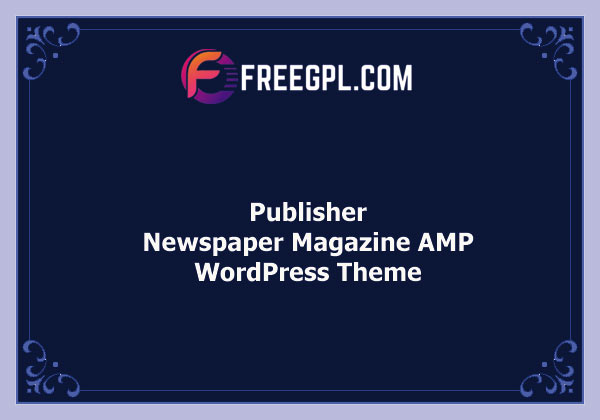 Publisher - Newspaper Magazine AMP Theme Free Download