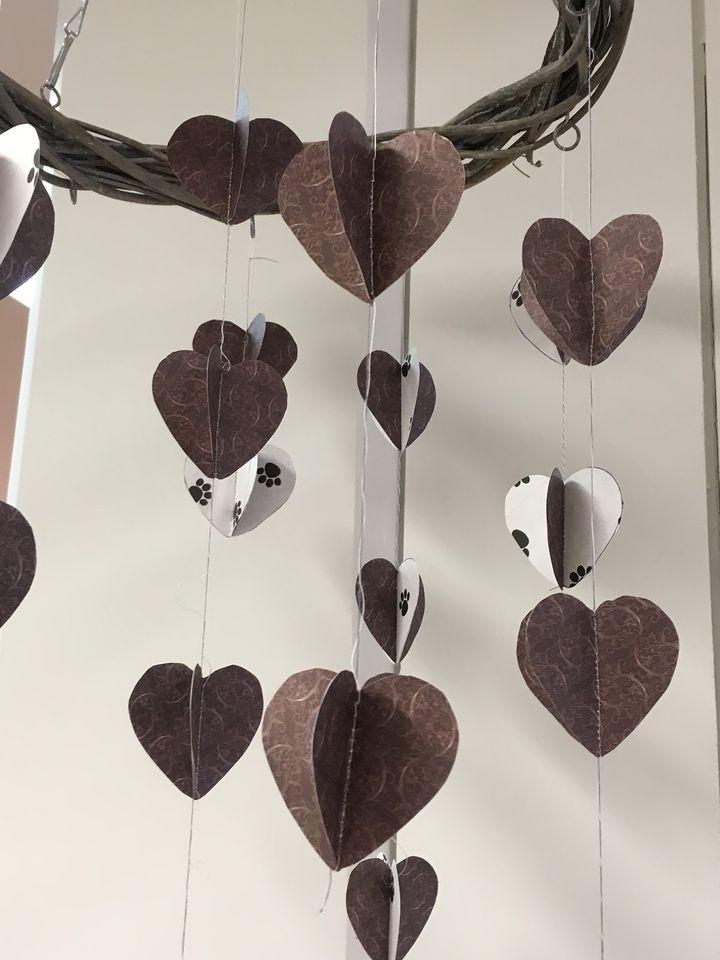 Ystävänpäivän sydänmobile