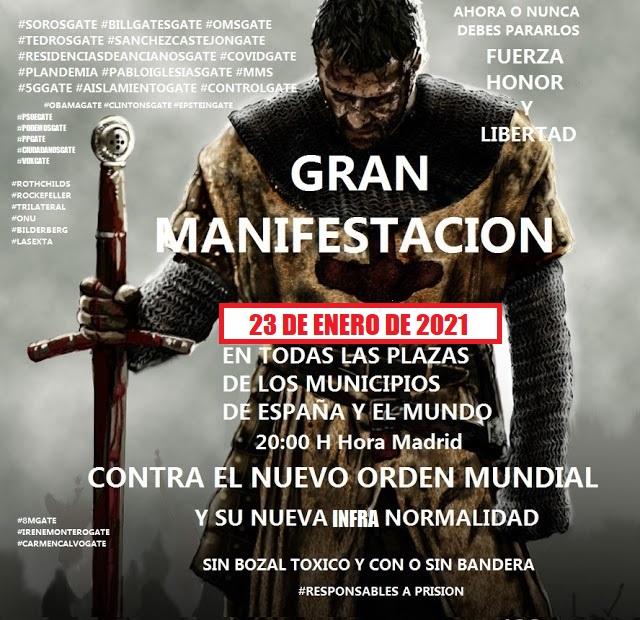 FELIZ AÑO NUEVO 2021 . GRAN MANIFESTACION 23 DE ENERO DE 2021