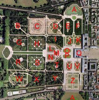 Codage, chiffrage, jardins de Versailles, code secret.