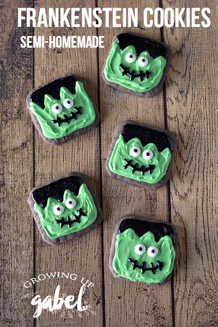 Easy Halloween Frankenstein Cookies