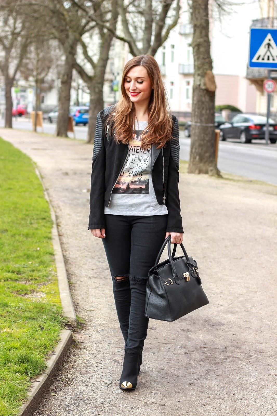 Deutsche Fashionblogger - Lederjacke - Streetstyle - Streetstyleinspiration - My Colloseum - Frankfurt Fashionblogger - Fashionblogger aus Frankfurt - Deutsche Fashionblogger