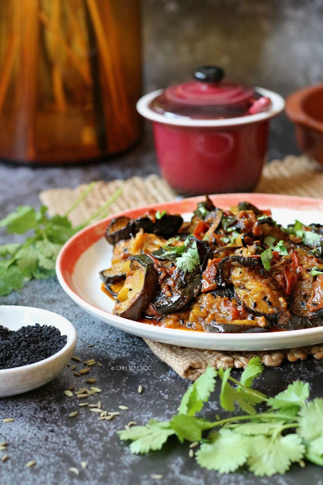Recipe - Achari Baingan (Eggplant with Pickling Spices)