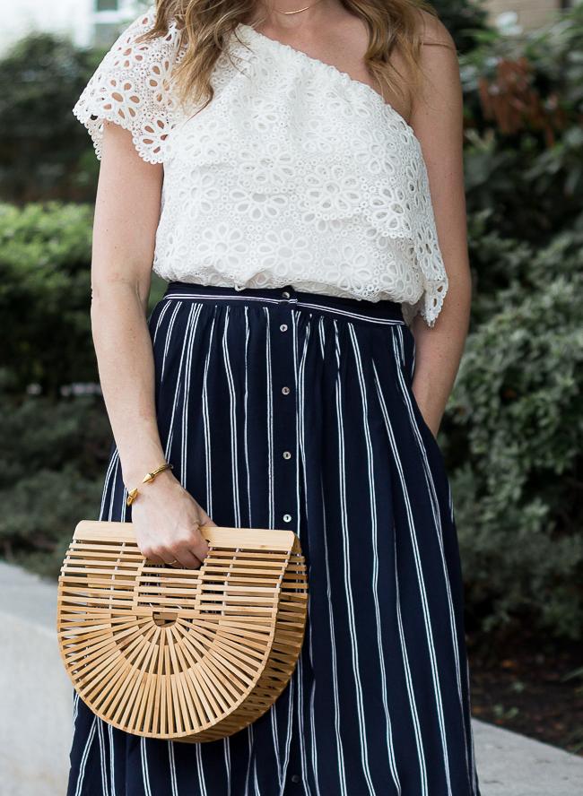 Button Front Skirt #midiskirt