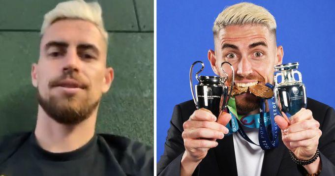 Chelsea Midfielder Jorginho's reaction to winning UEFA's Player of the Year award
