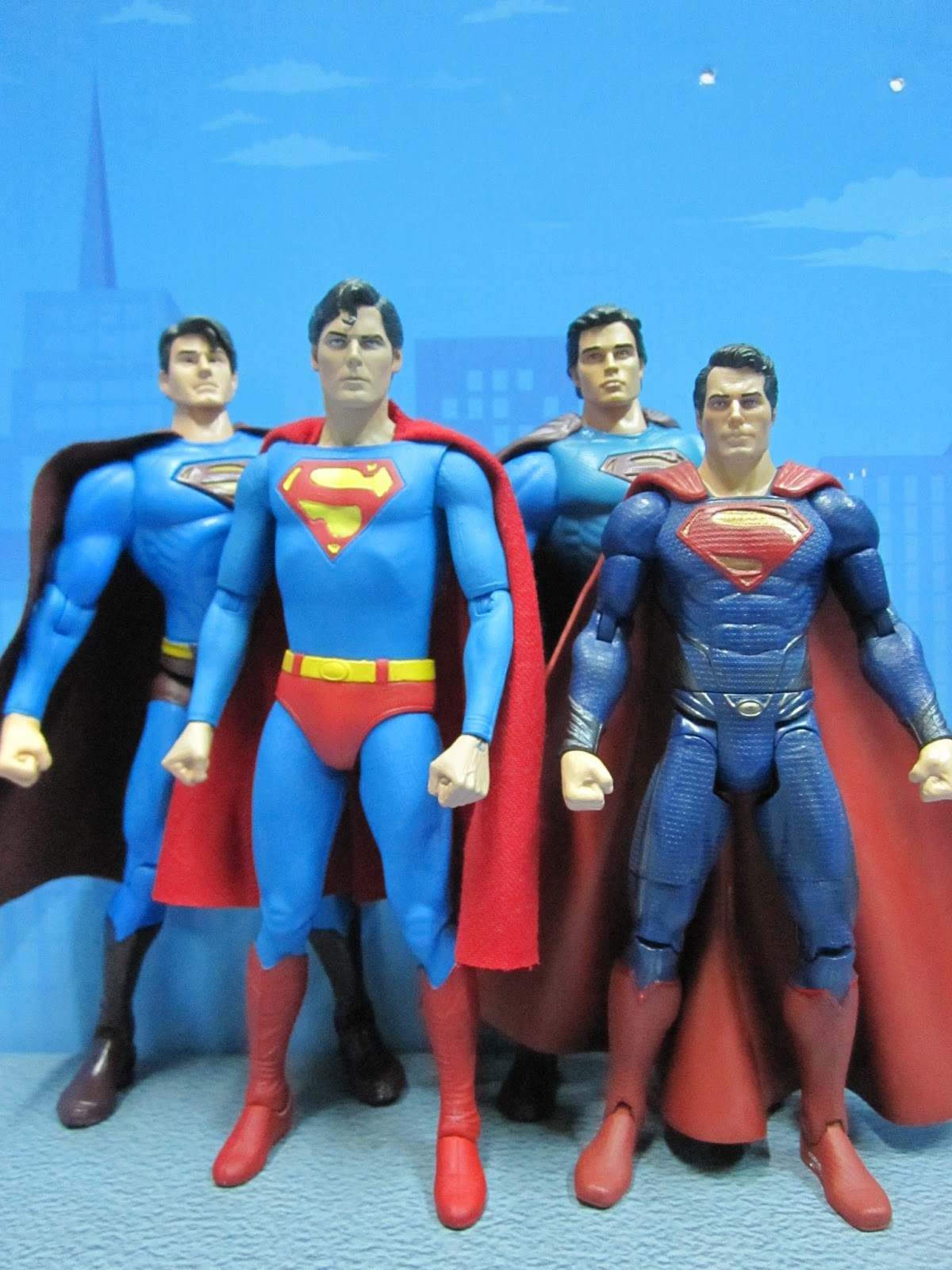 Brandon Routh Christopher Reeve Tom Welling And Henry Cavill