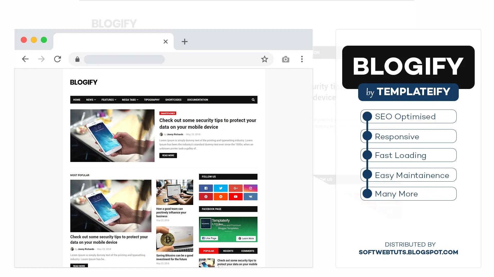 Blogify - Responsive Blogger Template